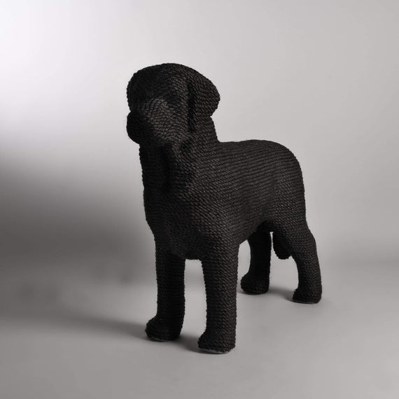 FURST - Modern cat scratching post and dog-shaped design in black color
