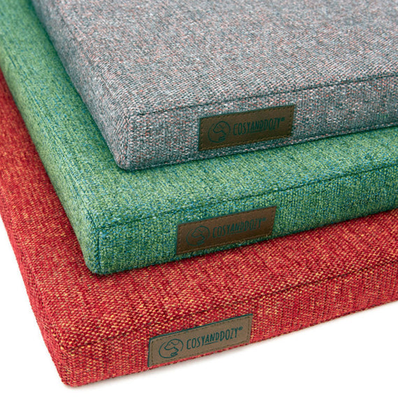 FURST - Stylish high-end cushions in red, green and gray pink
