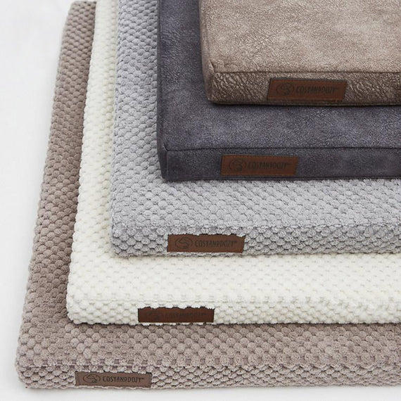 FURST - Premium cushions with soft textures in white, gray, cappuccino or smooth in dark gray and taupe