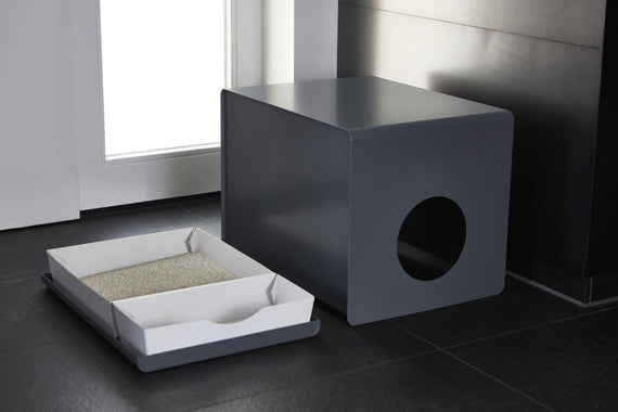 FURST - Design cat toiletry cabinet with interchangeable insert for better black cleanliness