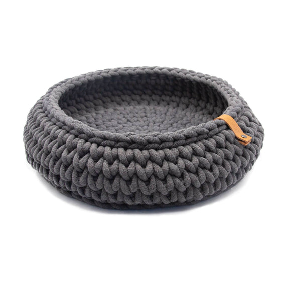 FURST - Oslo cat basket in delicate anthracite cotton