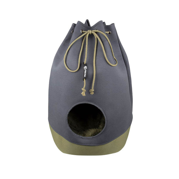 FURST - Original kitty for cat in the shape of a Marin bag in anthracite and khaki