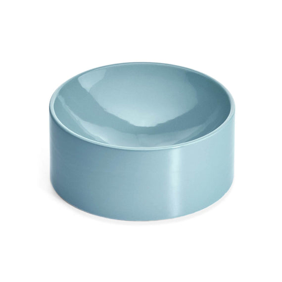 FURST - High-end shallow ceramic bowl for blue cat