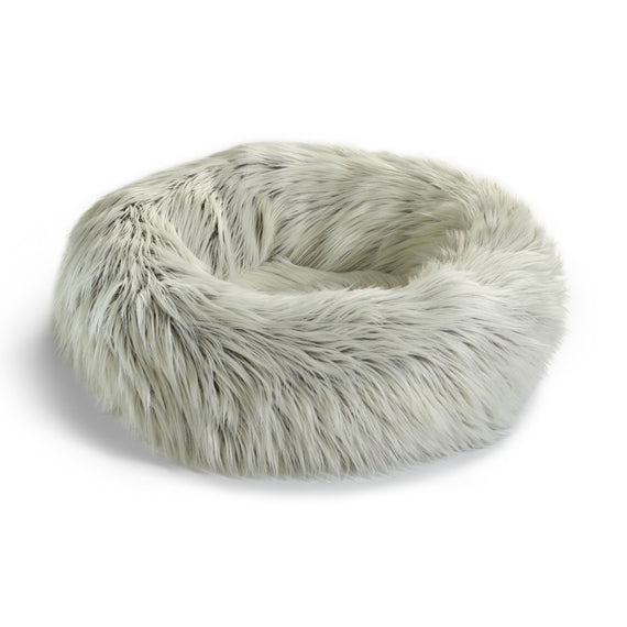 FURST - Elegant Couffin capello for cat in black white synthetic fur