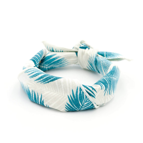 FURST - Quality turquoise dog scarf tied in a headband