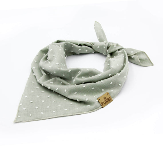 FURST - Quality almond green bandana for dog in plumetis
