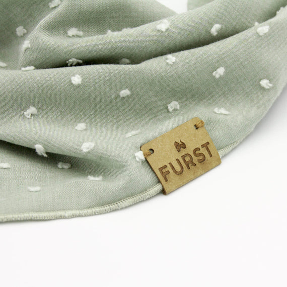 FURST - Vegetable leather detail on a dog bandana