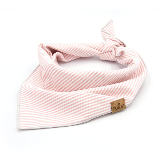 FURST - Bandana Cap Ferret for dog in pink striped cotton