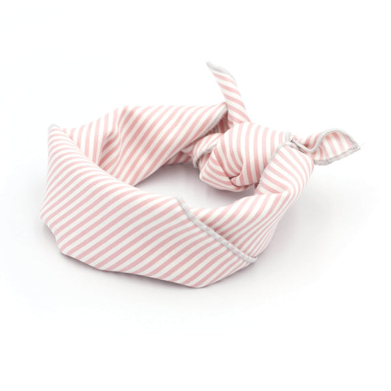 FURST - Bandana Cap Ferret striped pink for dog tied in headband