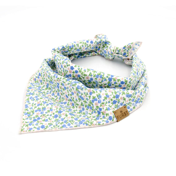 FURST - 100% cotton cotton bandana with floral pattern