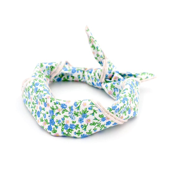 FURST - Floral Giverny scarf for dog rolled in headband
