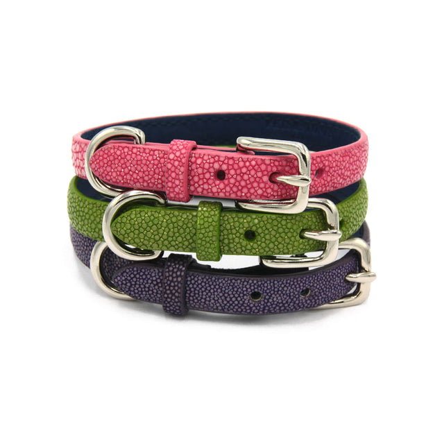FURST - A collection of high quality exceptional necklaces for small dog in high quality shagreen in several colors