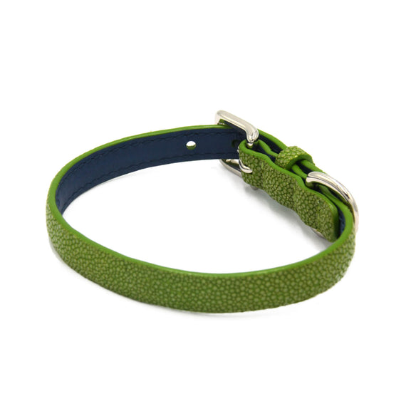 FURST - Premium necklace for small dog shagreen high quality mint color