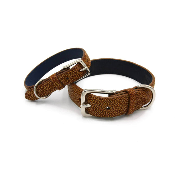 FURST - Beautiful necklaces high quality dog shagreen high quality mustard color