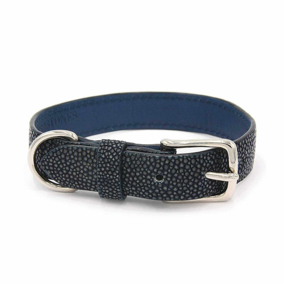 FURST - High quality necklace for dog shagreen high quality black