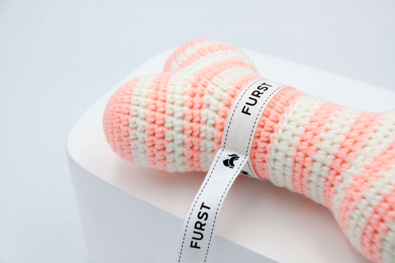 FURST - High-end Atlas dog toys in the form of bones in powder pink color