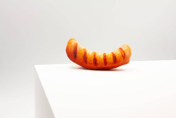 FURST - Knack Saucisse design imitation dog toy in the form of a gourmet Strasbourg sausage