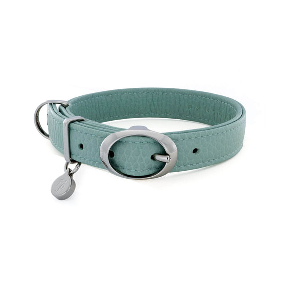 FURST - Necklace Caramelle high-end for small and medium high quality Italian leather dog of water green color