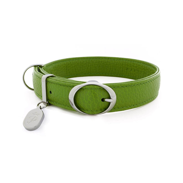 FURST - Necklace Caramelle high-end for small and medium high quality Italian leather dog in green color