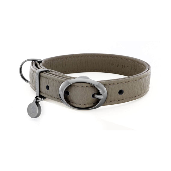 FURST - Necklace Mezzanotte high-end for small and medium gray leather dog high quality gray