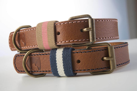 FURST - Collection of high-end handcrafted Polo necklaces for medium and large dogs in high quality French leather