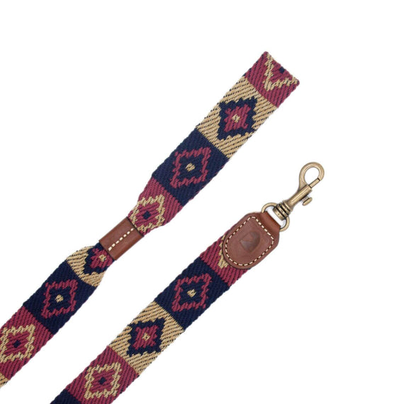 FURST - High-end Geronimo leash for medium and large dogs in high quality French vegetable leather in blue color