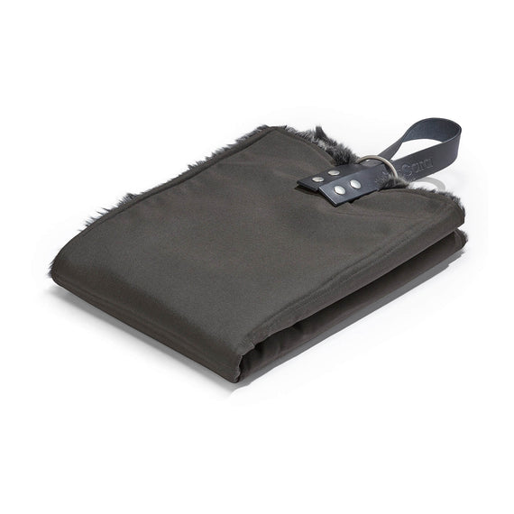 FURST - Exit mat in graphite and anthracite color for small dogs in faux fur
