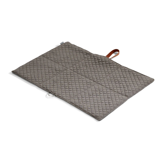 FURST - Open exit mat in folding format for medium dogs in slate and pebble color
