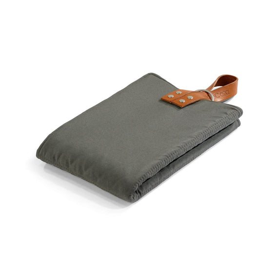 FURST - Slate and pebble color folding exit mat for small dogs