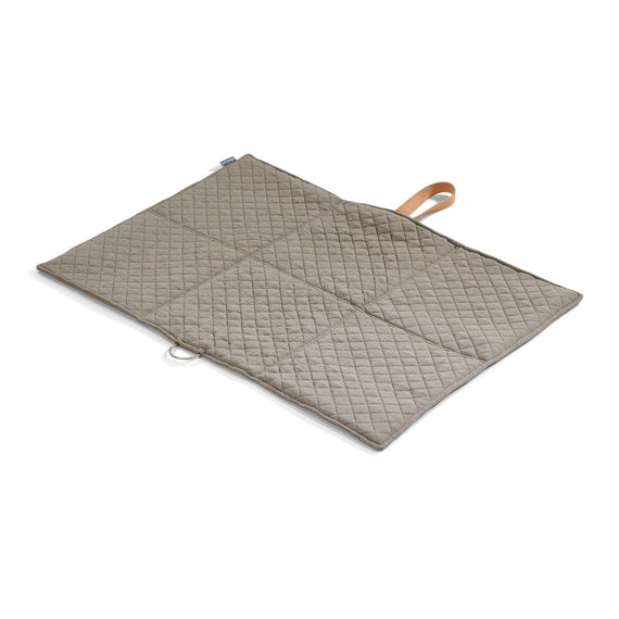 FURST - Open exit mat in folding format for medium dog in taupe and mineral color