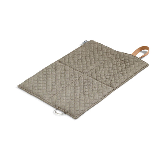 FURST - Open exit mat in folding format for small dogs in taupe and mineral color