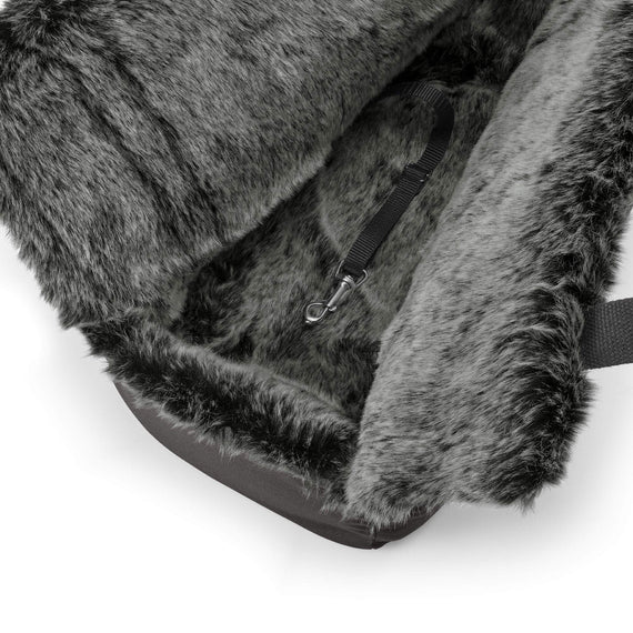 FURST - Soft interior of travel bag Via for dog of anthracite color