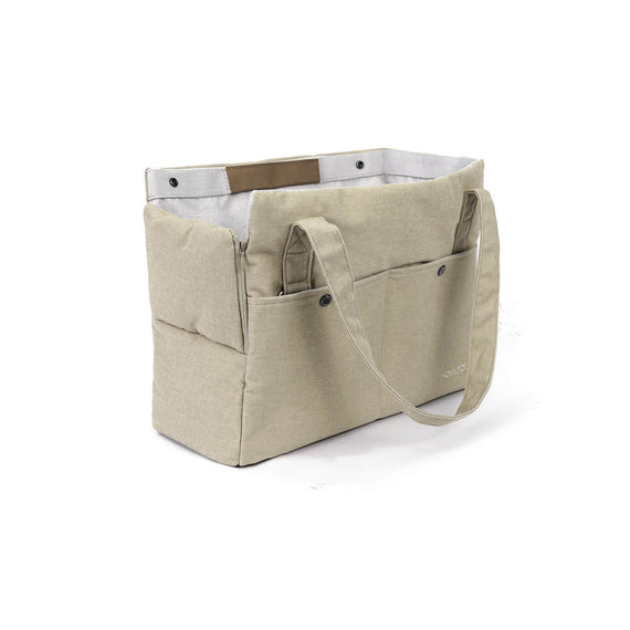 FURST - Elegant and refined high-end travel bag for dogs in cream color