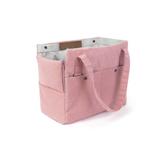 FURST - Elegant and refined high-end travel bag for dogs in pink color