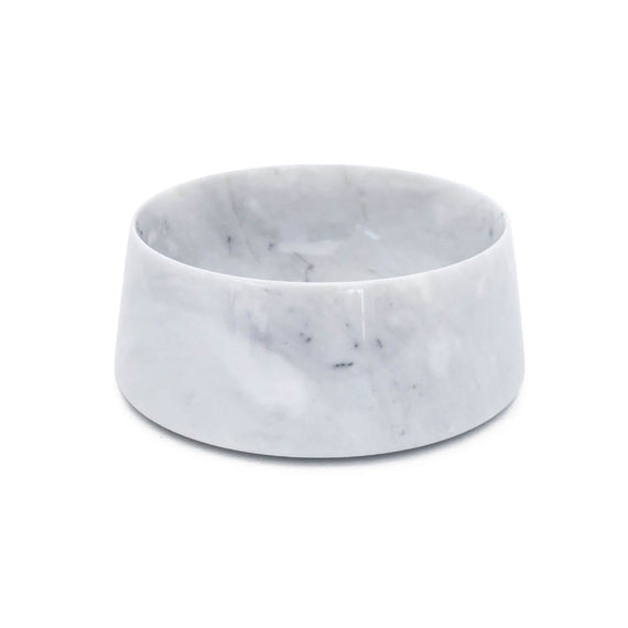 FURST - High quality marble bowl / bowl for medium dogs in white tiger gray