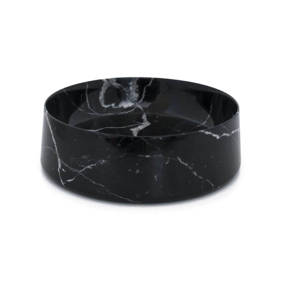 FURST - Bowl / bowl high-end marble for medium or large dogs in black tiger white
