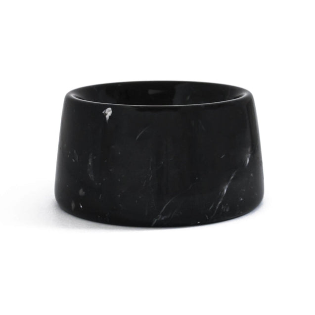 FURST - Bowl / bowl high-end marble for small dog of color black