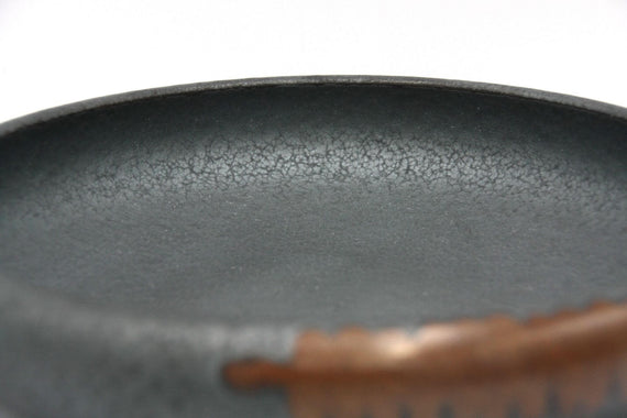 FURST - High-end melting stoneware bowl for volcanic gray color cat
