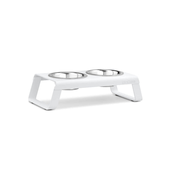FURST - Set of high quality aluminum bowls for small dogs in white color