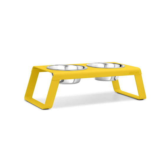 FURST - Set of high quality upgraded aluminum bowls for medium yellow dogs