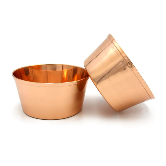 FURST - Set of 2 bowls pure copper for small and medium dog