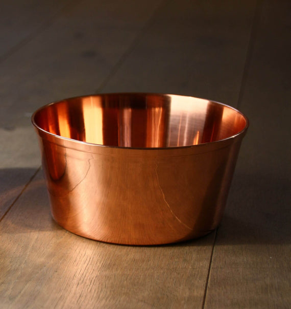 FURST - 100 high-grade copper bowl for small and medium dogs
