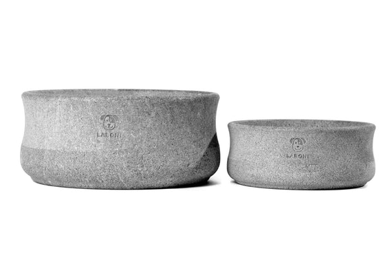 FURST - Duo of premium bowls in steatite for dogs of gray color
