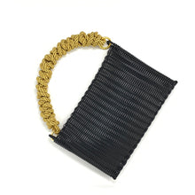 Load image into Gallery viewer, THE KNOT CLUTCH BLACK / GOLD