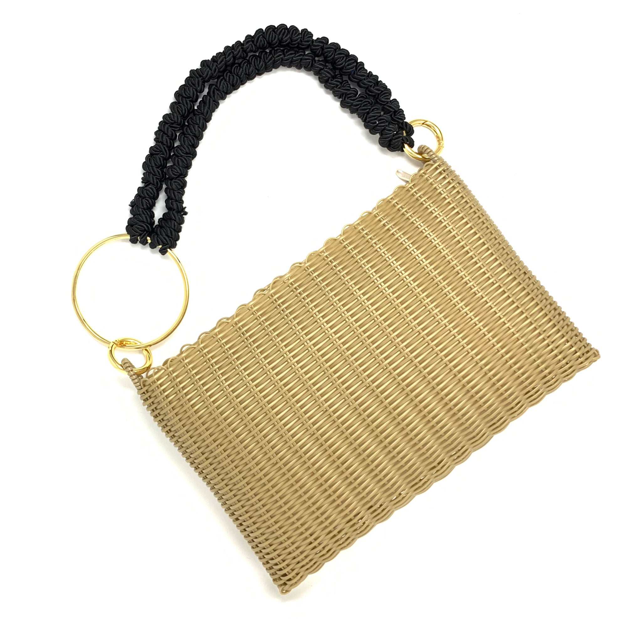 THE CIRCLE KNOTTED CLUTCH GOLD