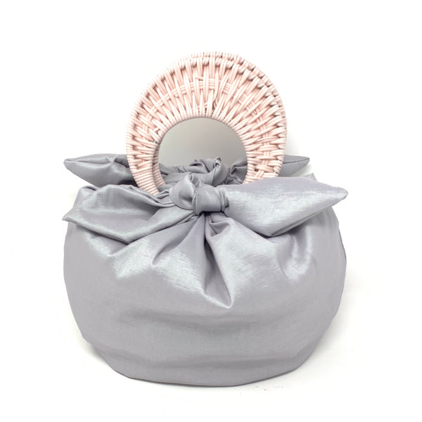 THE BOMBOM BAG BLUSH / SILVER