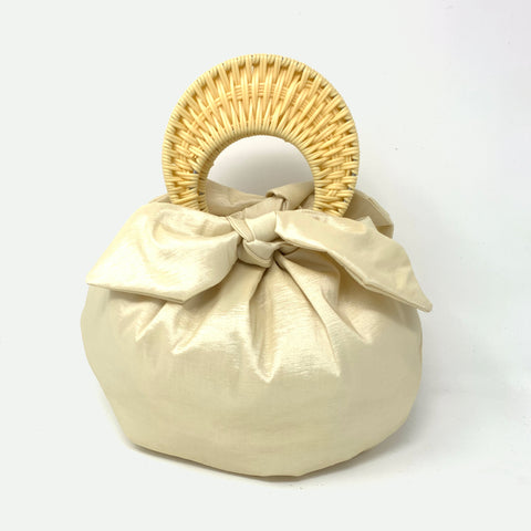 THE BOMBOM BAG BABY YELLOW / CHAMPAGNE