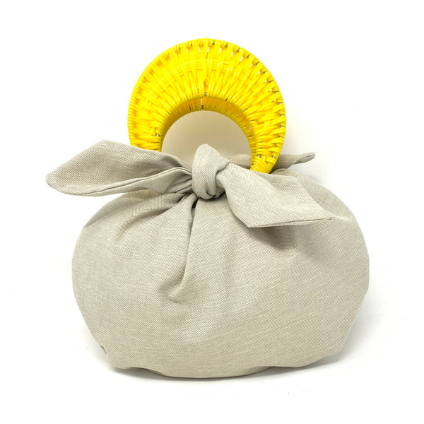 THE BOMBOM BAG YELLOW / BEIGE