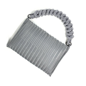 THE KNOT CLUTCH SILVER / SILVER