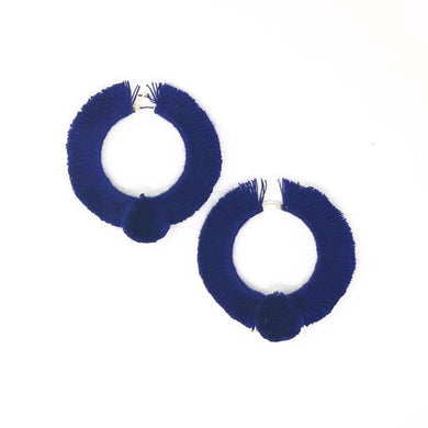 TONATI HOOP EARRINGS NAVY